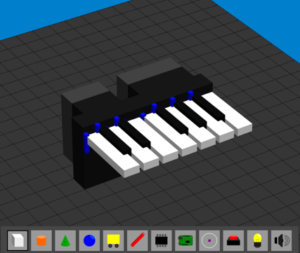 One octave piano